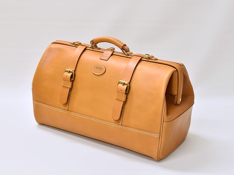 口枠ボストンバッグ(V-103)Lサイズ革色キャメル