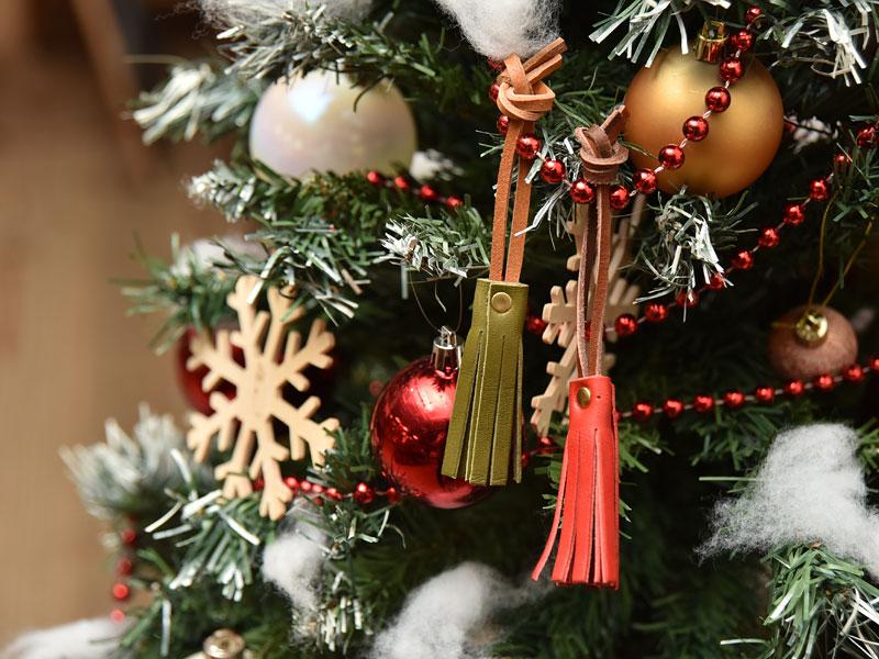 特製:タッセルキーホルダー クリスマスツリーオーナメント