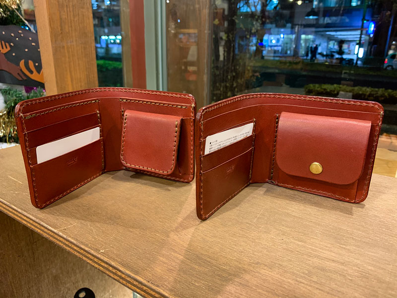 二つ折り財布(WS-5)、二つ折り財布(WS-8)
