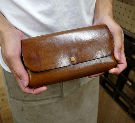 名古屋店作り手:田中愛用「ダブルフラップ長財布」