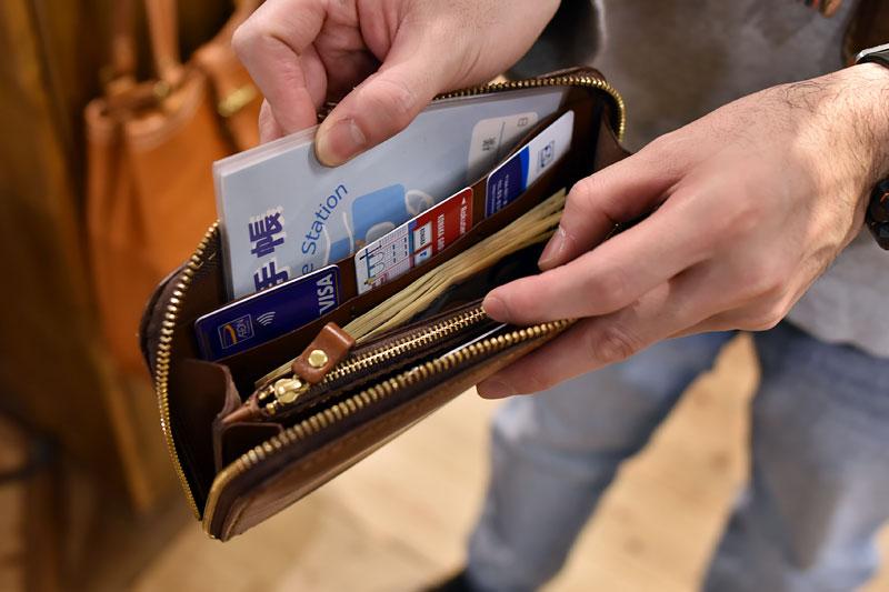 大きいファスナー長財布(WL-5) 収納例1