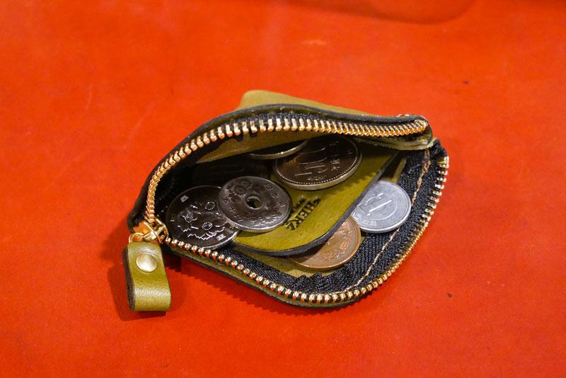 仕切り付き小銭入れ(KK-1) コイン収納例