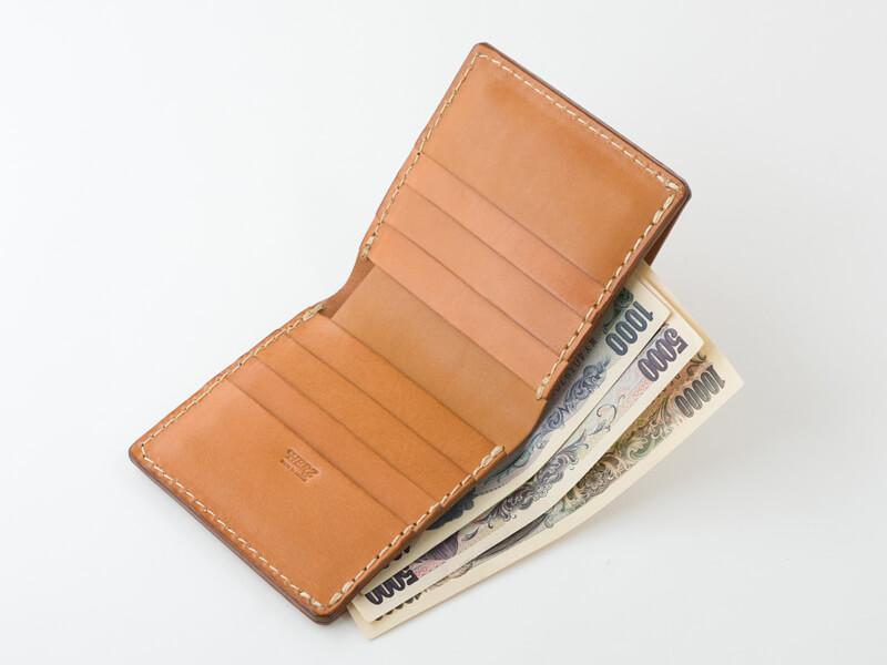 二つ折り財布(WS-4) 紙幣収納