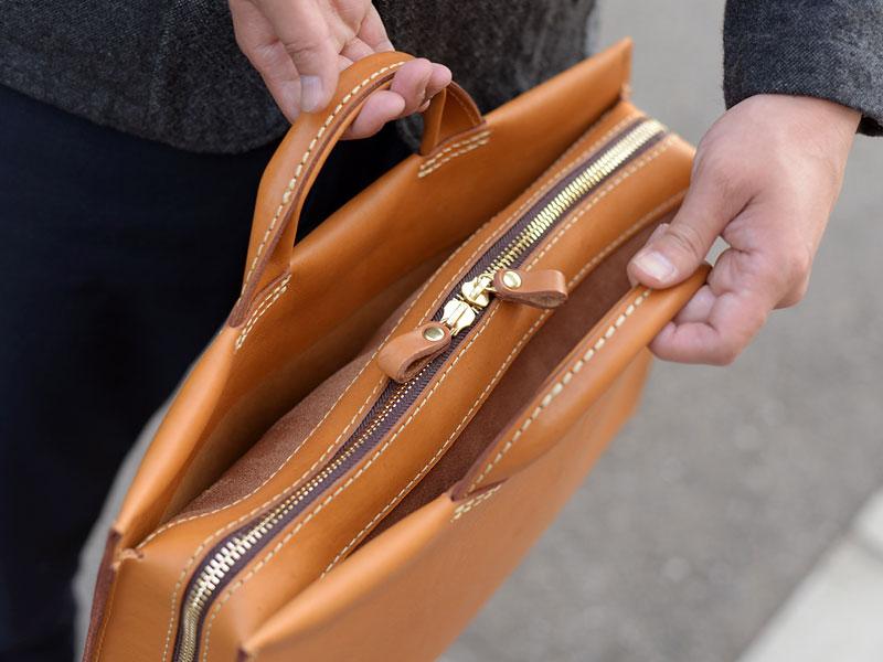 あおりポケット二本手ビジネスバッグ(BW-104) あおりポケット