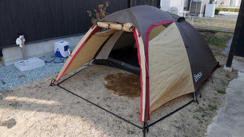 カイ君とテントで過ごす