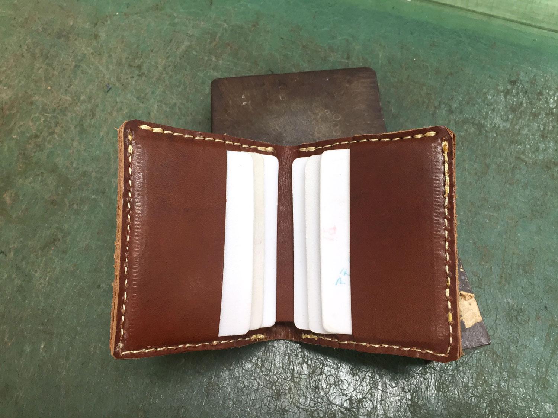 二つ折り財布(WS-4)の試作1を開いた様子