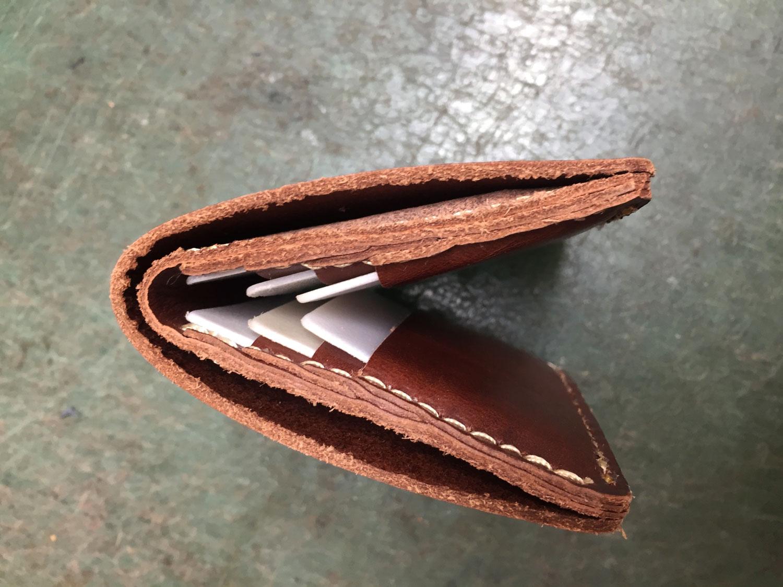 二つ折り財布(WS-4)の試作1を上から見た様子