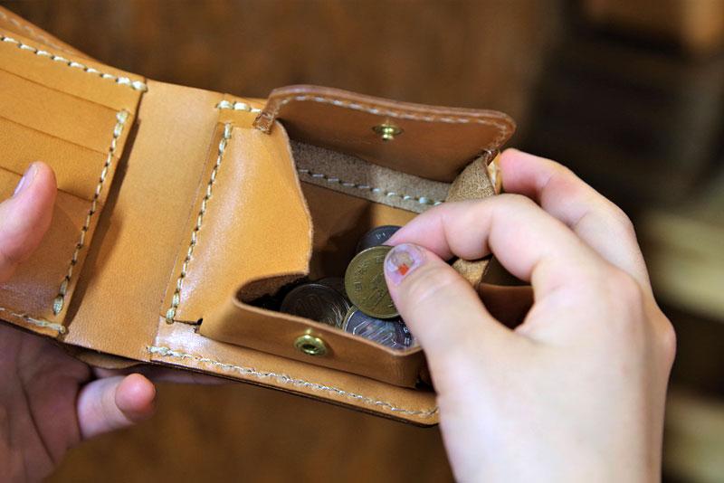 二つ折り財布(WS-8) 小銭取り出し