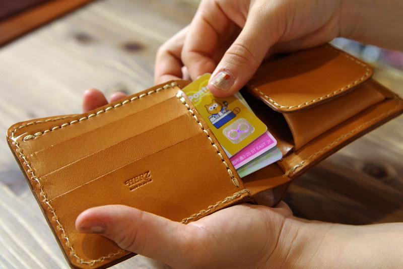 二つ折り財布(WS-8) 隠しポケット2