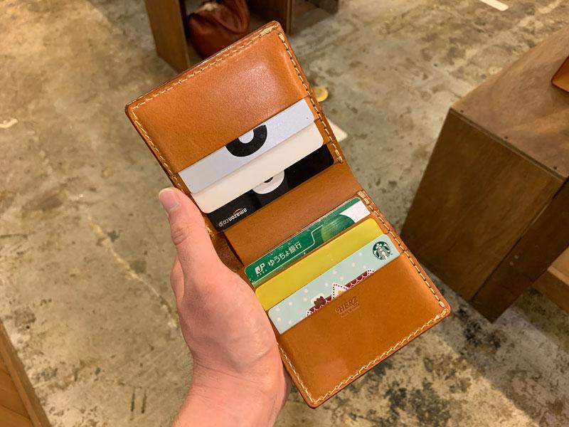 二つ折り財布(WS-4) カード収納