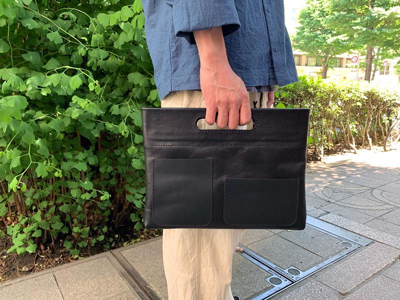 手持ちもできるバッグインバッグ・横型(S-3-Y)
