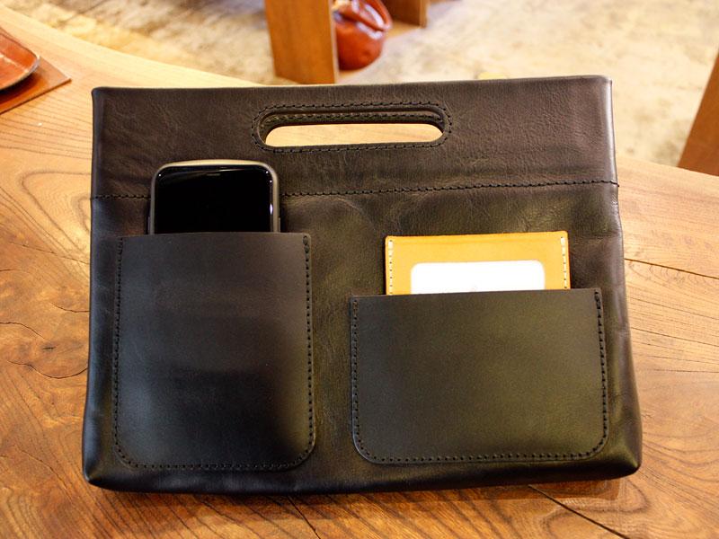 手持ちもできるバッグインバッグ・横型(S-3-Y) 収納例