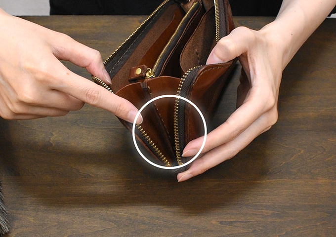 気付かないうちに乾燥しやすい財布のマチ