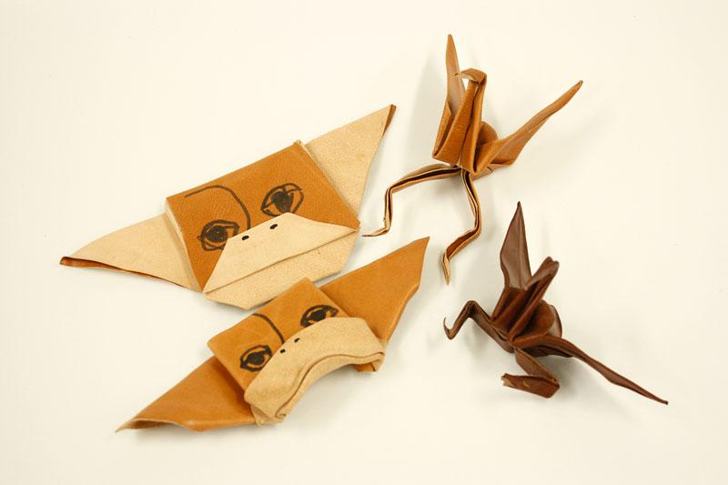 庄子の革折り紙コレクション