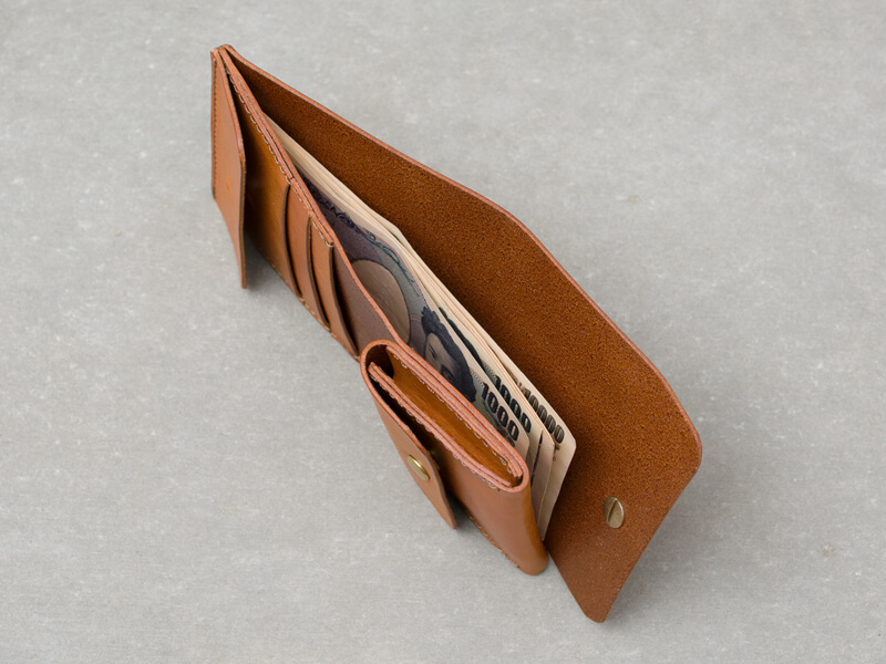 ギボシ留め二つ折り財布(GS-71) 札入れ