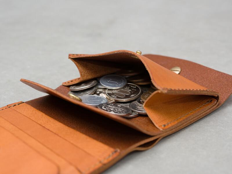 ギボシ留め二つ折り財布(GS-71) 小銭入れ