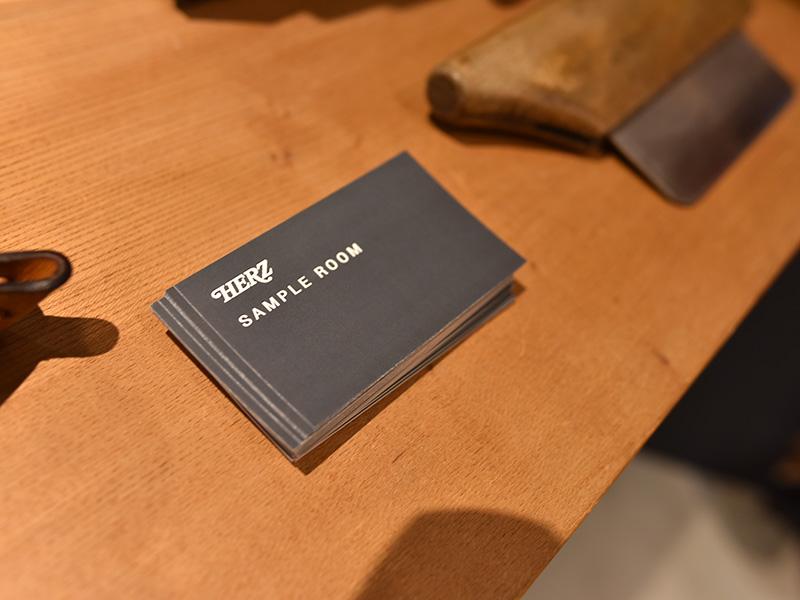 ヘルツサンプルルームのショップカード