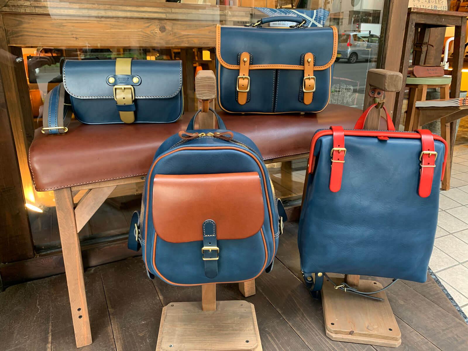 限定色のネイビーで2トーン仕様の鞄を作りました!