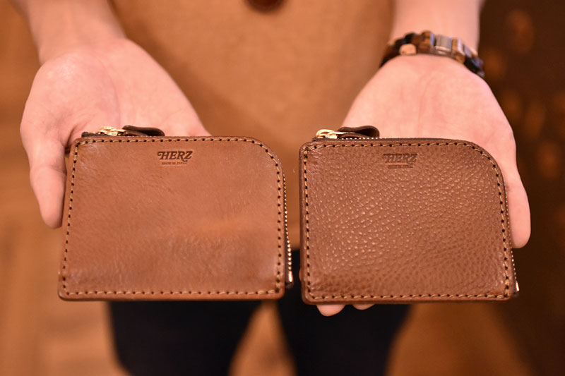 L字ファスナーミニ財布(KK-38) 革色チョコ